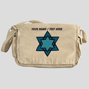 Personalized Blue Star Of David Messenger Bag