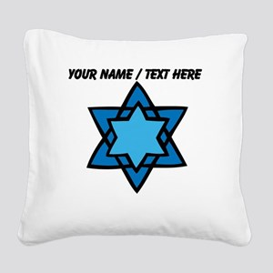 Personalized Blue Star Of David Square Canvas Pill