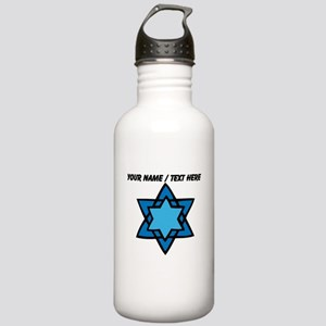 Personalized Blue Star Of David Water Bottle