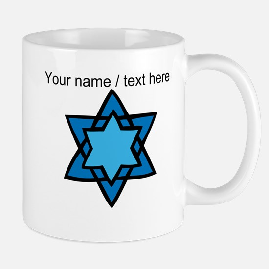 Personalized Blue Star Of David Mug