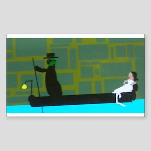 Chaney Silent pop art Rectangle Sticker