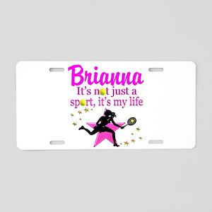 TENNIS LIFE Aluminum License Plate