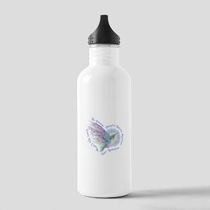 Hummingbird Heart Art Water Bottle
