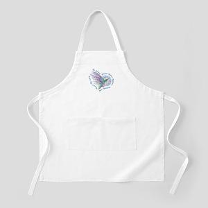 Hummingbird Heart Art Apron