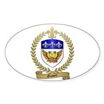 GIONET Family Crest Oval Sticker