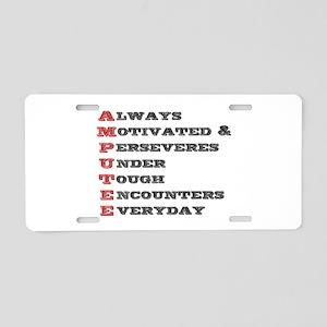 A.M.P.U.T.E.E. Aluminum License Plate