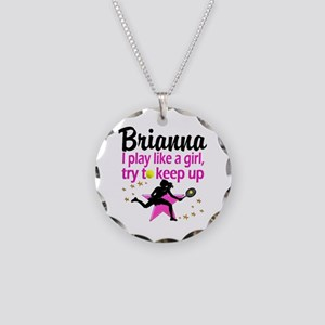TENNIS LIFE Necklace Circle Charm
