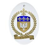 LAGACHETTE Family Crest Oval Ornament