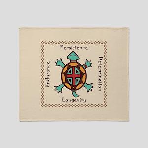 Turtle animal spirit Throw Blanket