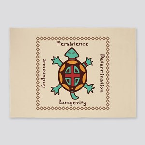 Turtle animal spirit 5'x7'Area Rug