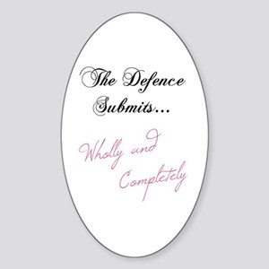 The Defence Submits Oval Sticker