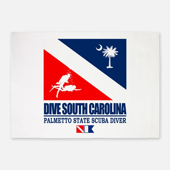 Dive South Carolina 5'x7'Area Rug