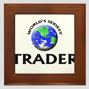 World's Sexiest Trader Framed Tile