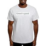 Gordon Gecko Greed is Good Ash Grey T-Shirt
