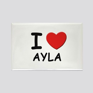 I love Ayla Rectangle Magnet