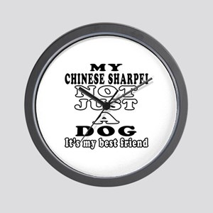 Chinese Sharpei not just a dog Wall Clock