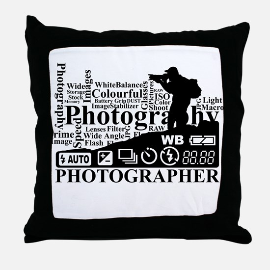 Unique Photographers Throw Pillow