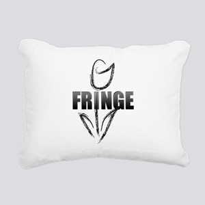 Fringe white tulip Rectangular Canvas Pillow