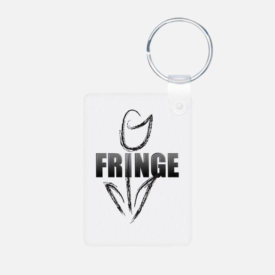 Fringe white tulip Keychains