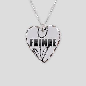 Fringe white tulip Necklace