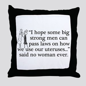 Funny Pro Choice Throw Pillow