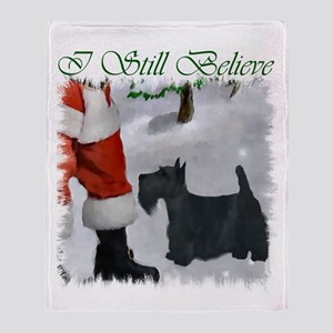 Scottish Terrier Christmas Throw Blanket