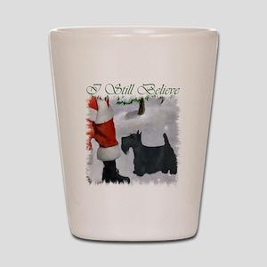 Scottish Terrier Christmas Shot Glass