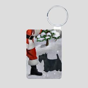 Scottish Terrier Christmas Aluminum Photo Keychain