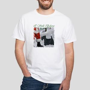 Scottish Terrier Christmas White T-Shirt