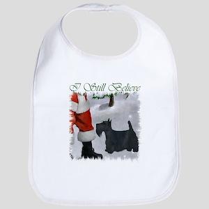 Scottish Terrier Christmas Cotton Baby Bib