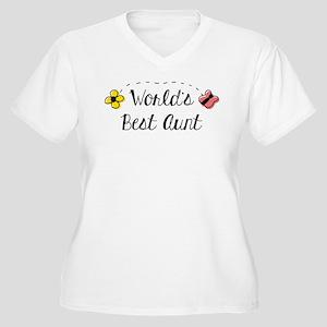 World's Best Aunt Women's Plus Size V-Neck T-Shirt