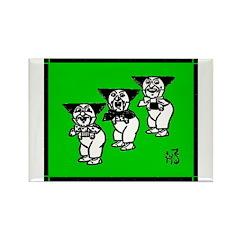 Hammer-Heads Rectangle Magnet (10 pack)