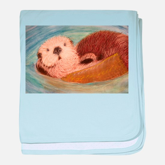 Sea Otter--Endangered Species baby blanket