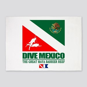Dive Mexico 5'x7'Area Rug