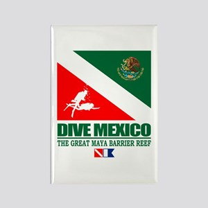 Dive Mexico Rectangle Magnet