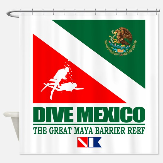 Dive Mexico Shower Curtain