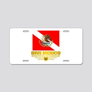 Dive Mexico 2 Aluminum License Plate