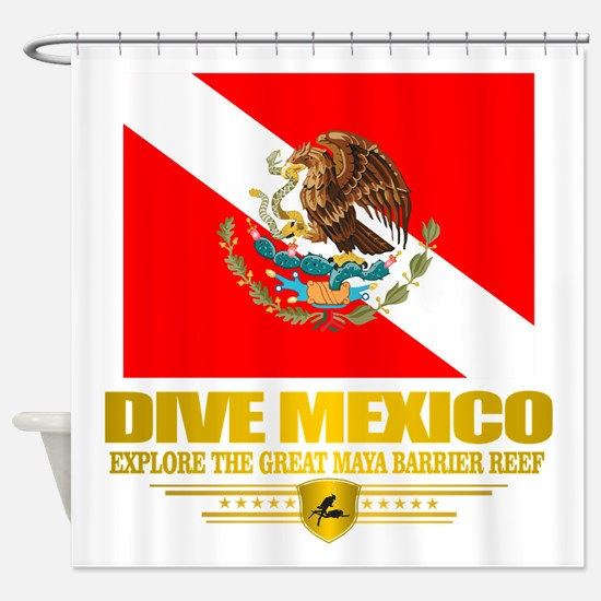 Dive Mexico 2 Shower Curtain