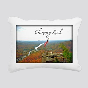 Chimney Rock with Text Rectangular Canvas Pillow