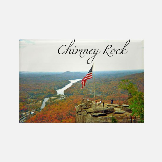 Chimney Rock with Text Rectangle Magnet