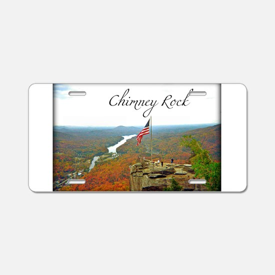 Chimney Rock with Text Aluminum License Plate