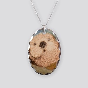 Sea Otter--Endangered Species Necklace Oval Charm