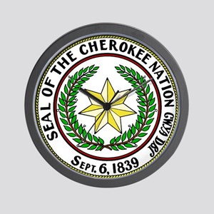Seal of Cherokee Nation Wall Clock