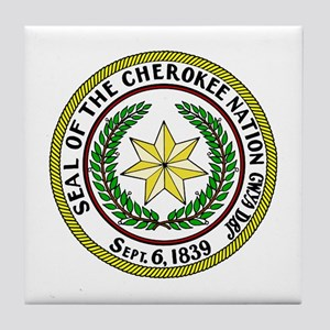 Seal of Cherokee Nation Tile Coaster