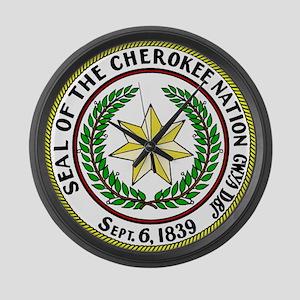 Seal of Cherokee Nation Large Wall Clock