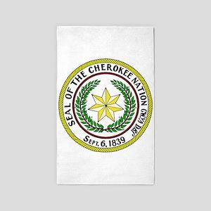 Seal of Cherokee Nation 3'x5' Area Rug