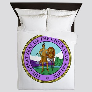The Great Seal of the Chickasaw Nation Queen Duvet