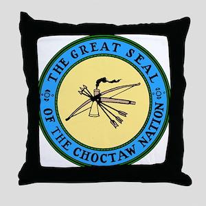 3-sealchoctaw1 Throw Pillow