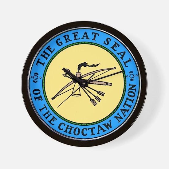 3-sealchoctaw1.png Wall Clock
