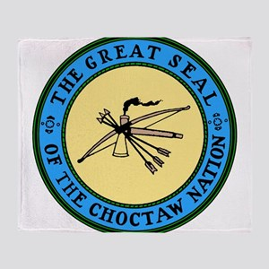 3-sealchoctaw1 Throw Blanket